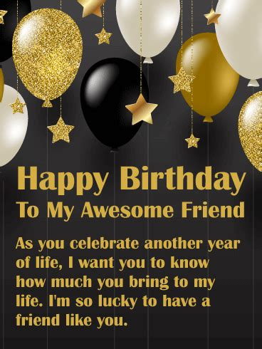 You Bring Joy! Happy Birthday Wishes Card for Friends