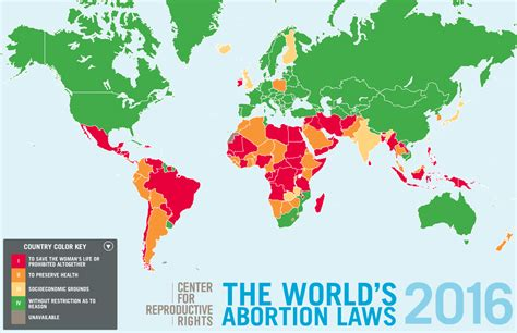 The World's abortion laws (2016) - Vivid Maps