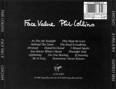 Face Value - Phil Collins | Songs, Reviews, Credits | AllMusic