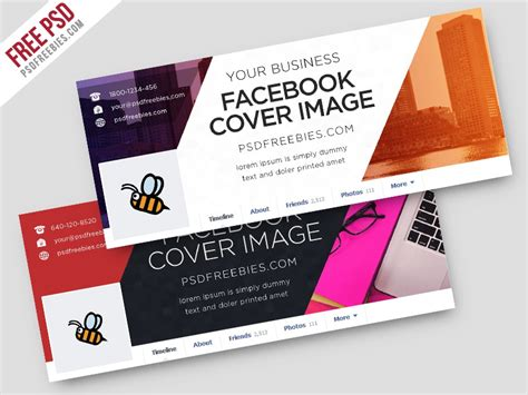 Freebie : Corporate Facebook Covers Free PSD Template by
