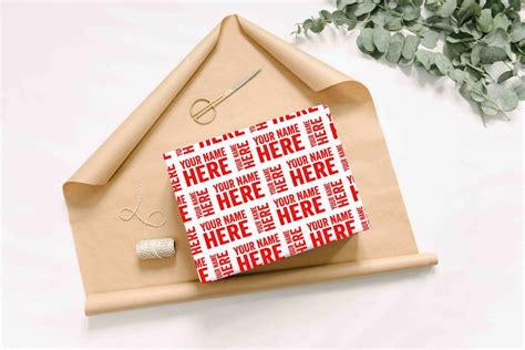 personalised letterpress style wrapping paper by abigail