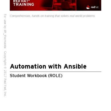 Automation With Ansible Do407 A2